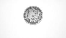 Rare Morgan 1901 Silver Dollar Coin For Sale Indoors.