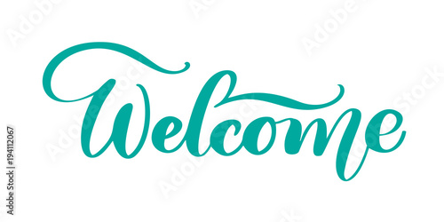 Stampa su Tela  Welcome Hand drawn text