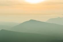 Sunrise View Of Landscape At Tropical Mountain Range Phu Rua National Park Loei Thailand