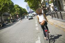 Riding Bike In Paris