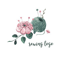 Sewing Logo. Threads, A Needle...