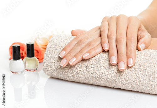 Manicure hands cocncept