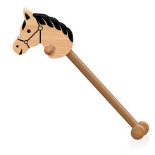Hobby Horse. Childs Wooden Rid...