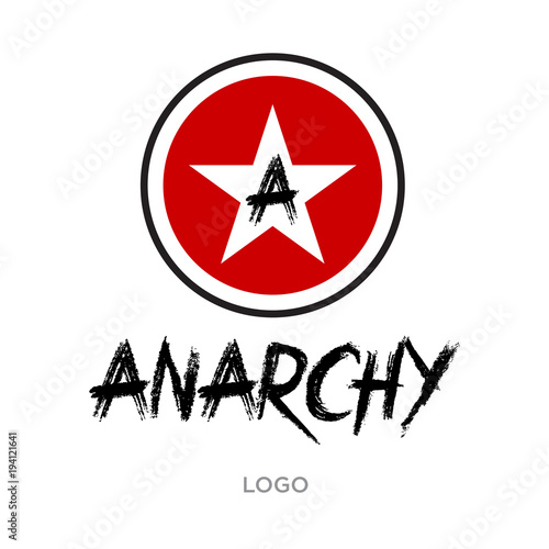 anarchy logo Wallpaper Mural