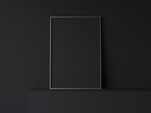Dark Blank Poster. 3d Rendering