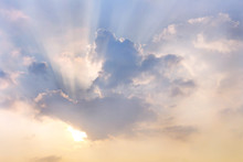 Clouds And Sun Shines Through ...