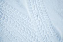 Tire Tracks Pattern On Winter ...