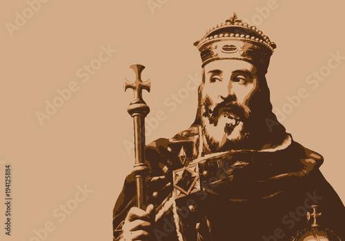 Fotografie, Obraz Charlemagne - empereur - portrait - personnage historique - personnage célèbre -