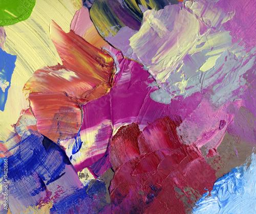 ölfarben acryfarben gespachtelt gemalt bunt Canvas Print
