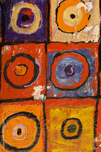 Multi Colored Art Close Up Texture Abstract Circles And