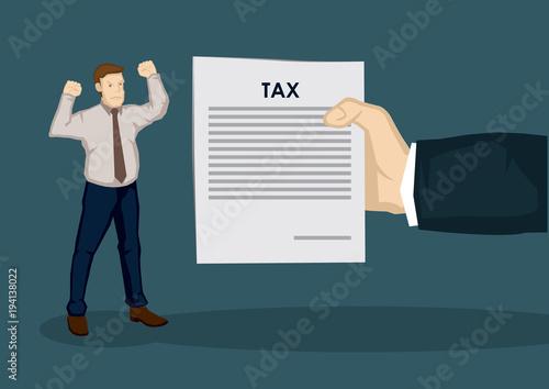 Fotografie, Obraz Angry Taxpayer Vector Illustration