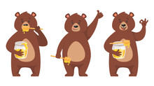 Set Of Bear Character
