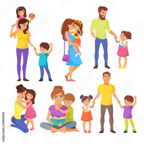Caucasian family members, parents Poster