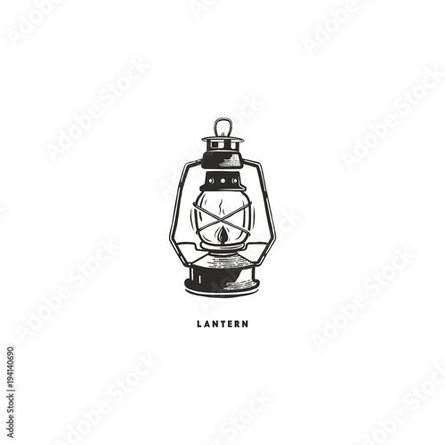 Vintage hand drawn lantern concept Canvas Print