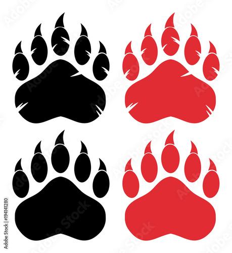 Bear Paw Logo Design Concept Canvas Print