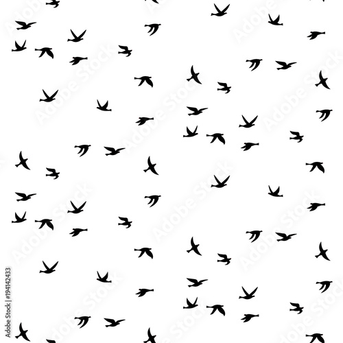 Cotton fabric Vector seamless pattern with birds