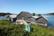 Fishing Sheds And Boats Somewh...
