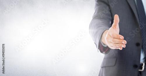 Fototapeta Handshake reach of businessman obraz