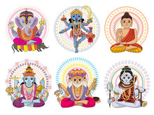 Indian God Vector Hinduism God...