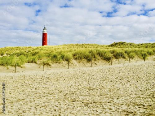 Spoed Foto op Canvas Noordzee Leuchtturm Insel Texel
