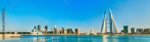 Deurstickers Midden Oosten Skyline of Manama Central Business District. The Kingdom of Bahrain