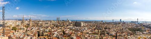 obraz PCV Panorama de Barcelone en Catalogne, Espagne
