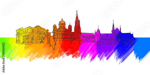 Bern Colorful Landmark Banner
