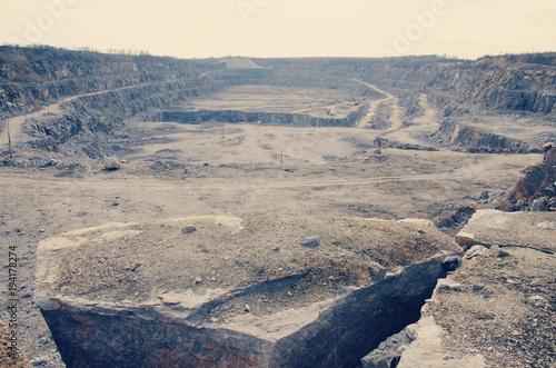 view of a quarry for a quarry Canvas Print
