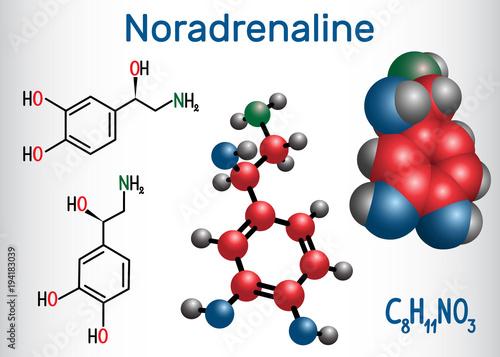 Papel de parede Noradrenaline (NA, norepinephrine , NE )  molecule