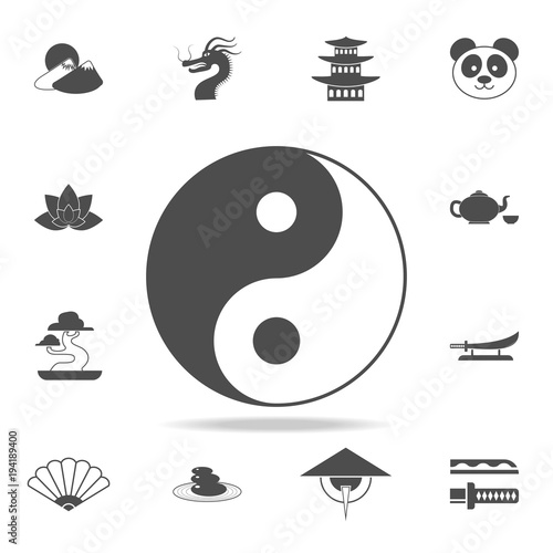 Yin Yang Icon Set Of Chinese Culture Icons Web Icons Premium