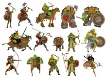 Ogre Orc Fantasy Monster Soldiers Collection