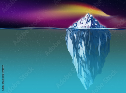 Iceberg graphic with big cold ocean Fototapet