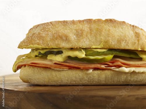 Keuken foto achterwand Snack Ham and Cheese sandwich