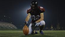 American Football Kicker Ready...