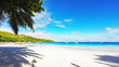 Paradise beach.White sand,turquoise water,palm trees at tropical beach,seychelles 29