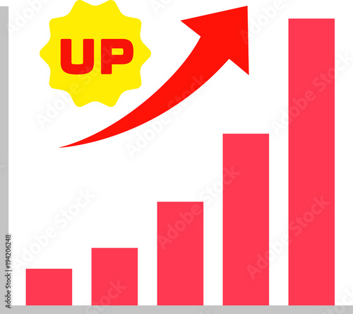 Fotografía  上昇傾向の棒グラフ