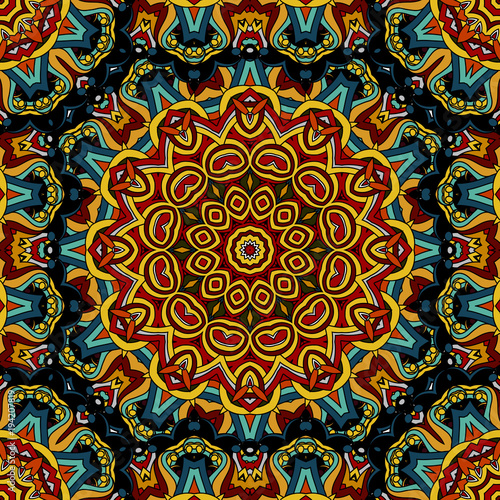 Seamless pattern morrocan vitrage ornament Фотошпалери