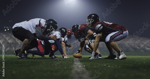 Fotografie, Tablou  american football players are ready to start
