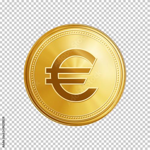Fotografía Gold euro coin