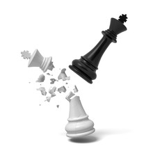 3d Rendering Of A Black Chess ...