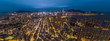 Panorama aerial view of Hong Kong night scenes