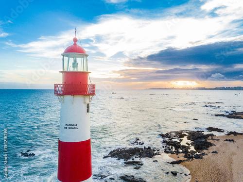 Garden Poster Lighthouse Faro de Itapua