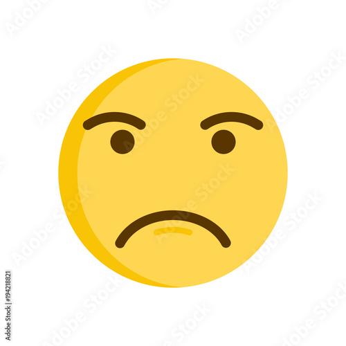 Upset Emoticon Vector Emoji Smiley Icon Illustration Kaufen Sie