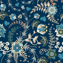 Seamless Floral Background. Tr...