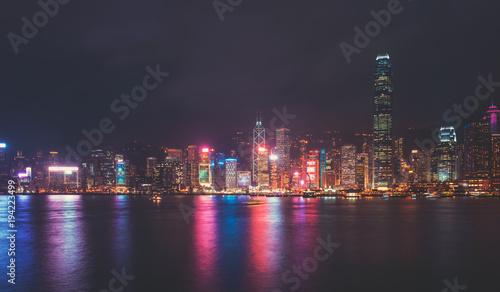 Fototapety, obrazy: Hong Kong cityscape at night