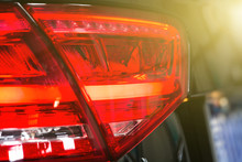 Closeup Of A Taillight On A Mo...