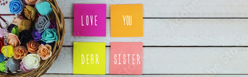 love you dear sister Fototapet