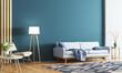 Leinwanddruck Bild - Interior of modern living room 3d rendering
