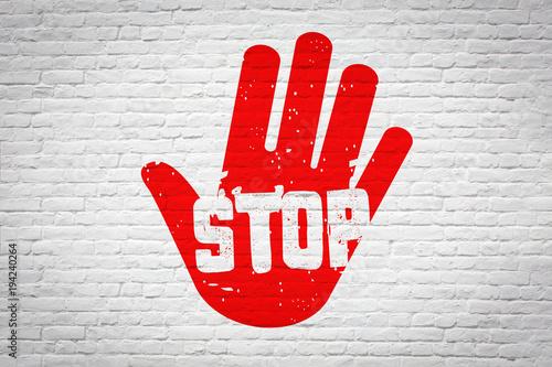 Stop Wallpaper Mural