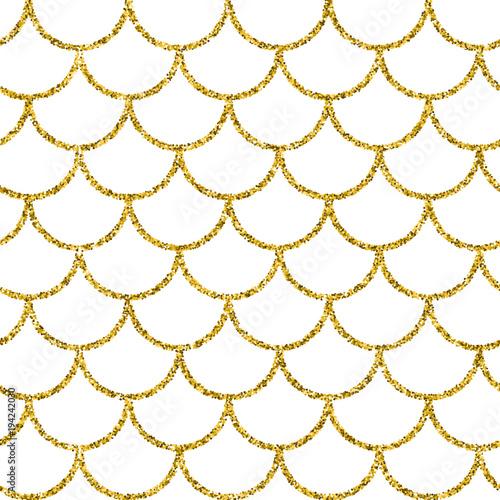 Glitter Mermaid Tail Seamless Pattern Fish Scale Texture